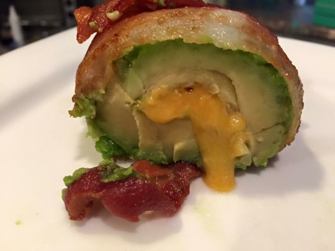 Bacon Wrapped Cheese Stuffed Fried Avocado For The Love